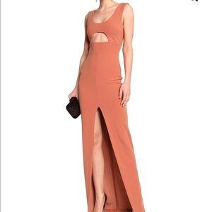 Solace London Long Peach Dress
